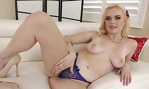Good-looking blonde girl with perky tits takes BBC respecting a difficulty ass