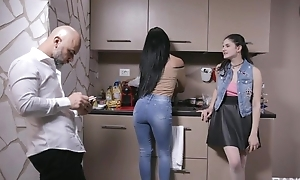 Beautiful Italian girl gets sodomized by older guy