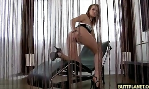 Luscious babe gets her eager anal opening fucked and creamed