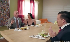 Brazzers dirty slut wife seduced her husband's business partner