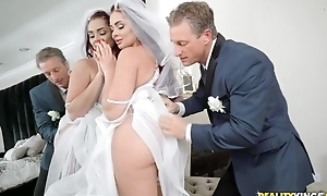 Edgy stud fucks his daughter-in-law before wedding