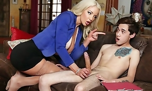 Busty Dr. Shea teaches inexperienced young man how to fuck