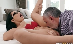 Russian MILF grinds her slit on a big ache cock