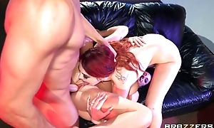 Horny bitches feel satisfied when sharing big dick jelled