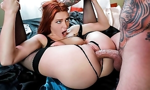 Redhead damsel moorland stockings needed a good fuck prizefight