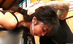 Pulchritudinous Asian lady empties thick throbbing cock