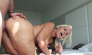 Lustful blonde MILF gets an sensitive anal pounding