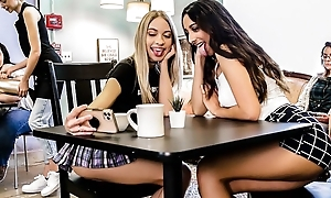 Two kinky college gals enjoying each other's company